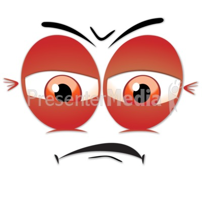 Angry Upset Face Presentation clipart