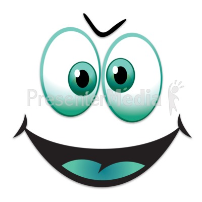 Silly Happy Face Presentation clipart