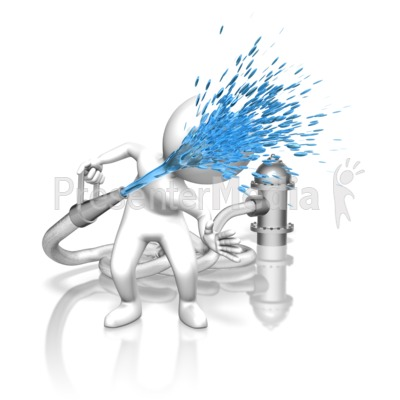 Drink From Fire Hose Presentation clipart