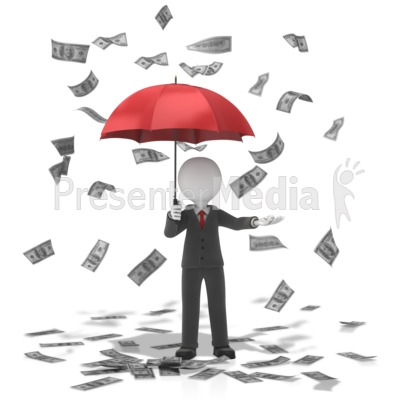 Business Figure Money Falling Presentation clipart