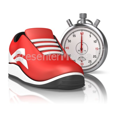 Running Stop Watch Presentation clipart