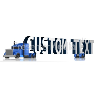 Custom Text Semi Presentation clipart