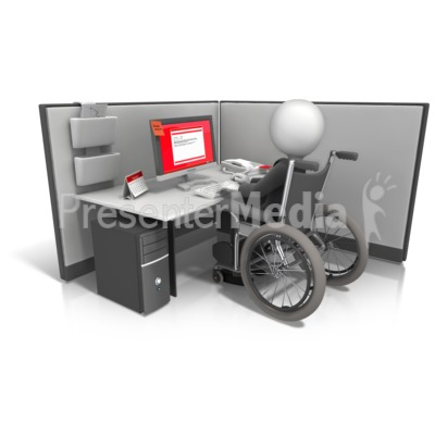 Figure Wheelchair Cubicle Presentation clipart