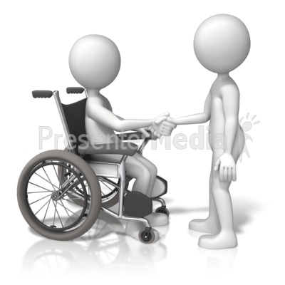 Wheelchair Shake Hands Presentation clipart