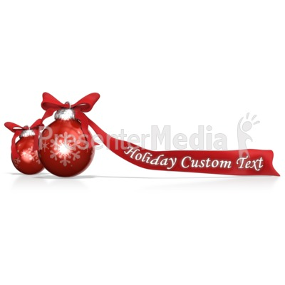 Ornaments And Bows Custom Presentation clipart