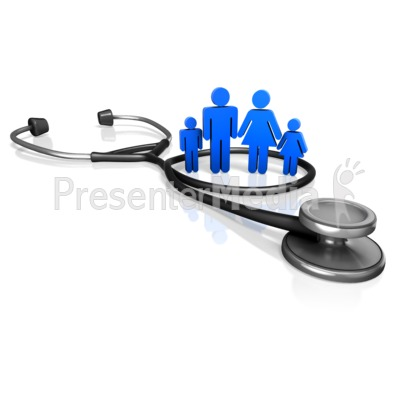 Family Doctor Stethoscope Presentation clipart