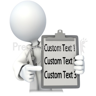 Doctor or Nurse With Custom Chart Presentation clipart