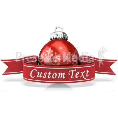Ornament With Custom Banner Presentation clipart