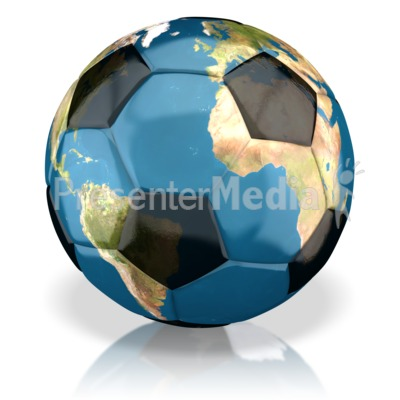 World Soccer Ball Presentation clipart