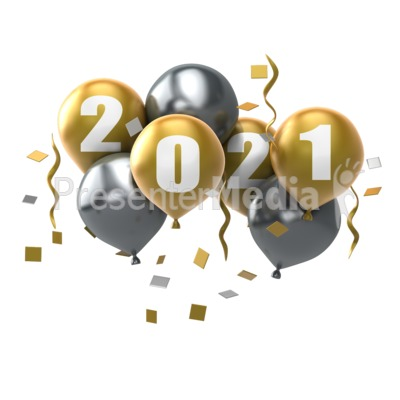 Custom Year Balloons Presentation clipart