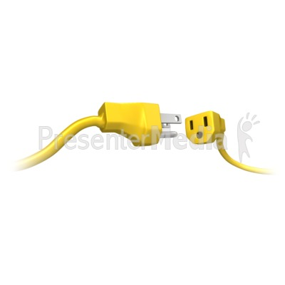Male Female Power Cord Connect Presentation clipart