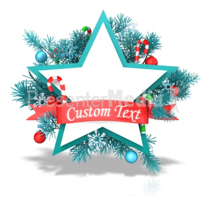 Christmas Star Banner Presentation clipart