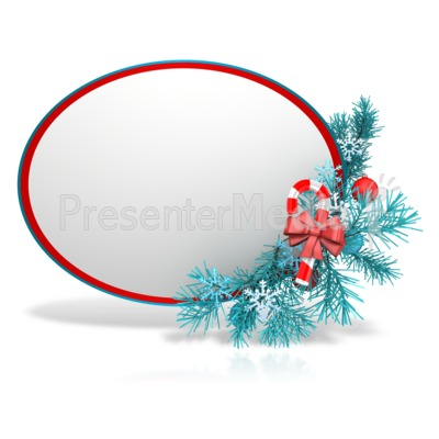 Festive Christmas Sphere Presentation clipart