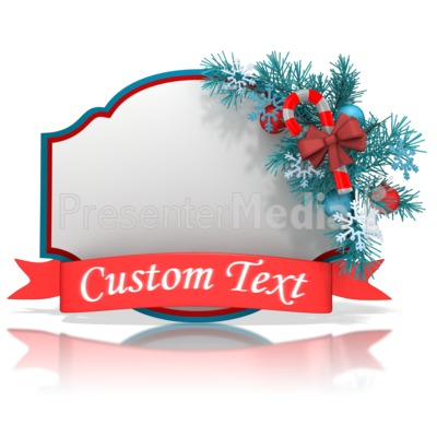 Christmas Shape Banner Presentation clipart