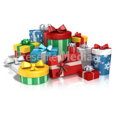 Lots Of Gifts Presentation clipart