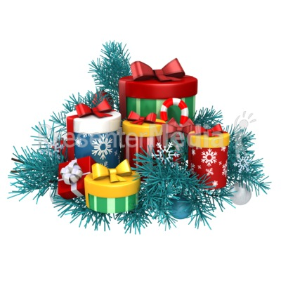Gifts Christmas Pine Presentation clipart