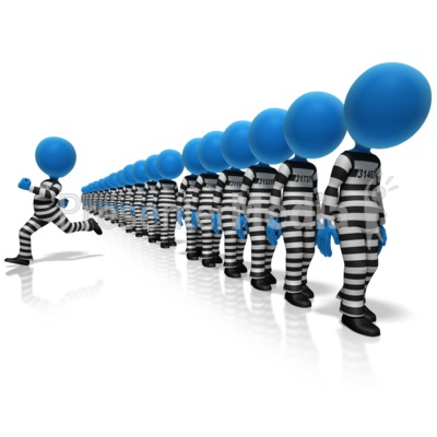 Prisoner Breakaway Presentation clipart