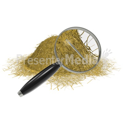 Needle In A Haystack Presentation clipart