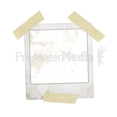 Blank Old Photo Taped Up Presentation clipart