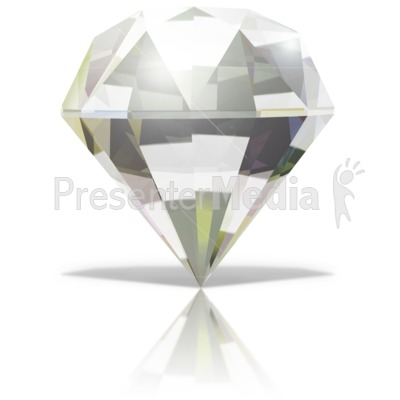 Single Diamond Presentation clipart