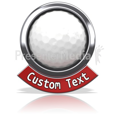 Golf Chrome Banner Presentation clipart