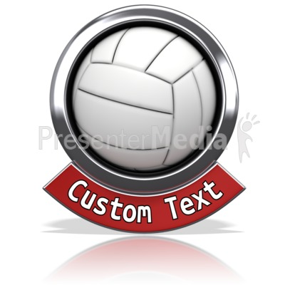 Volleyball Chrome Banner Presentation clipart