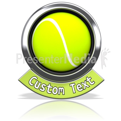 Tennisball Chrome Banner Presentation clipart