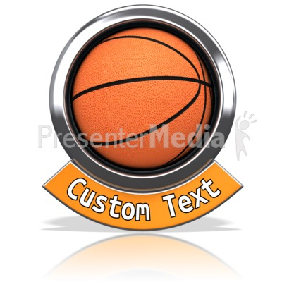 Basketball Chrome Banner Presentation clipart