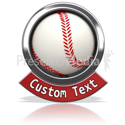 Baseball Chrome Banner Presentation clipart