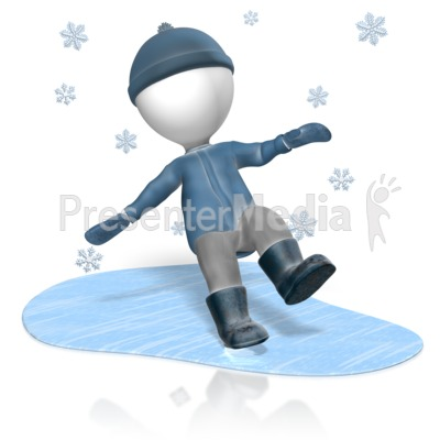 Figure Slip Ice Presentation clipart