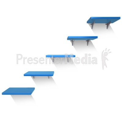Five Shelves Wall Presentation clipart