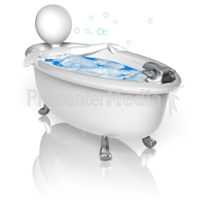 Figure In Bubble Bath Presentation clipart