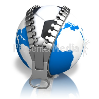 Earth Soccerball Reveal Presentation clipart