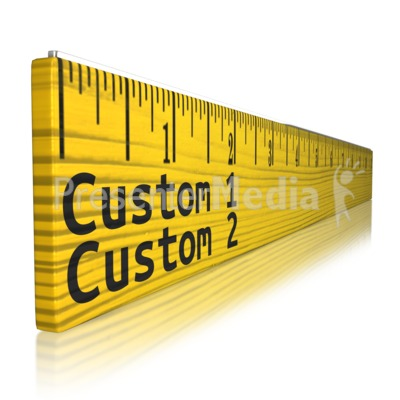 Custom Text Ruler Presentation clipart
