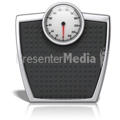 Bathroom Scale With Numbers Presentation clipart