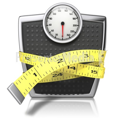 Scale With Tape Measure Presentation clipart