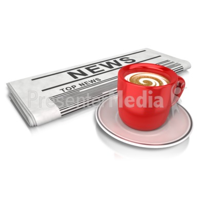 Coffee And News Presentation clipart