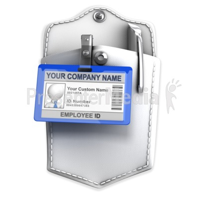 Pocket With Badge Custom ID Presentation clipart