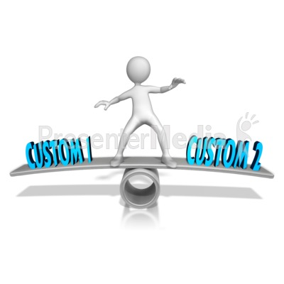 Custom Figure Balance Presentation clipart