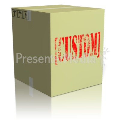Custom Text On Box Presentation clipart