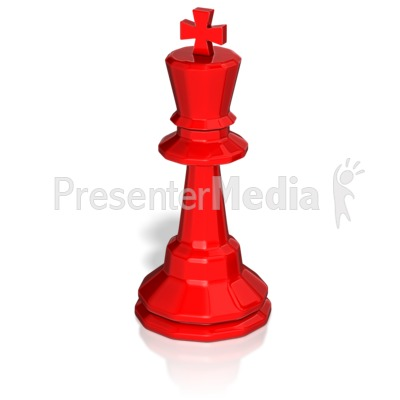 King Chess Piece Presentation clipart