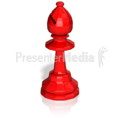 Bishop Chess Piece Presentation clipart