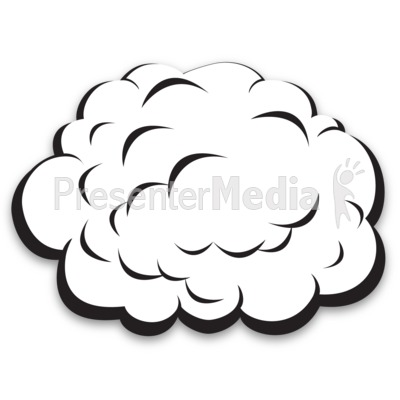 Single Plain Cloud Presentation clipart