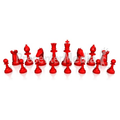 Chess Army Pieces Presentation clipart