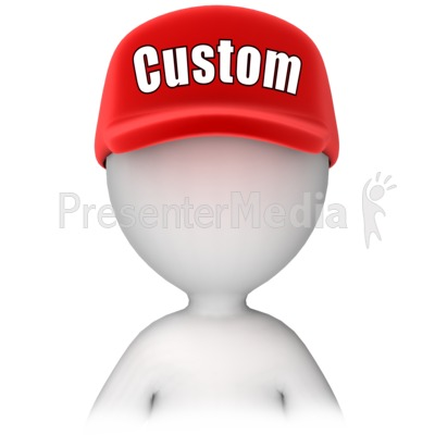 Figure with Custom Text Hat Presentation clipart
