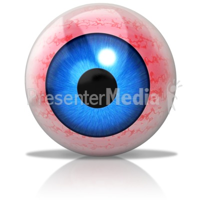 Irritated Eyeball Presentation clipart
