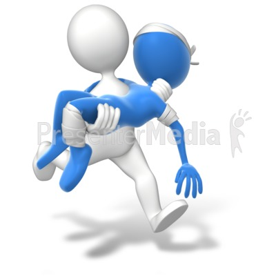 Running Carry Injury Presentation clipart