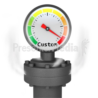 Custom Pressure Gauge Presentation clipart