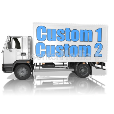 Custom Text Delivery Truck Presentation clipart