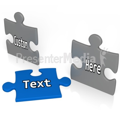 Custom Puzzle Piece Out Of Line Presentation clipart